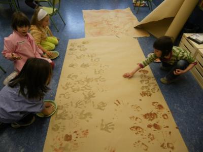 Pintamos las manos